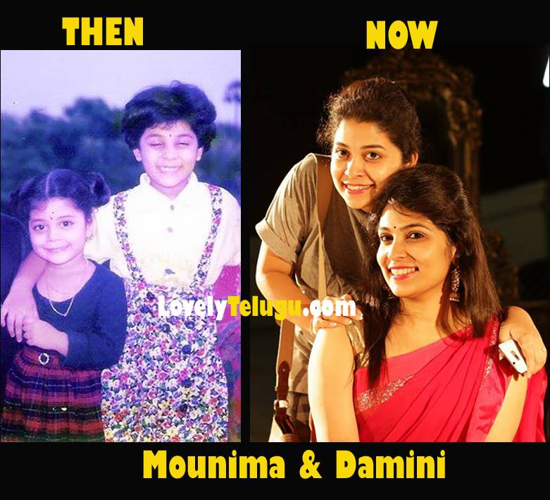 Mounima and Damini Childhood Pic