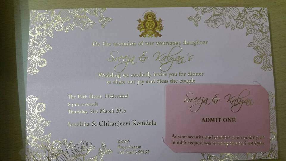 Sreeja Konidela Wedding Card