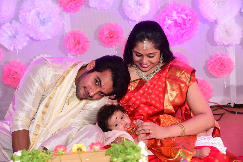 Aadi Daughter Naming Ceremony Photos