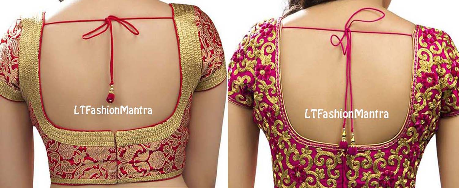 Images Of Simple Blouse Back Neck Designs 93