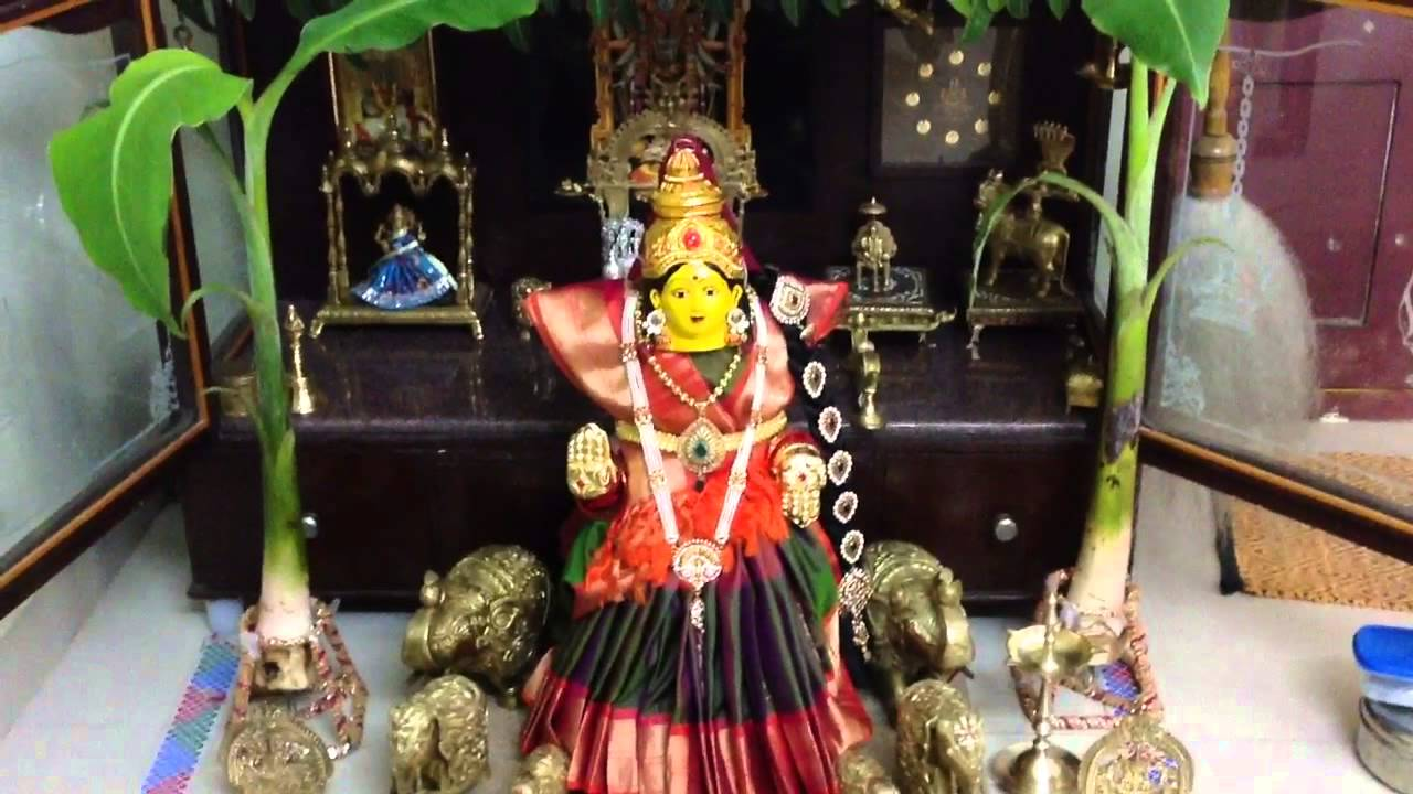 Varalakshmi Vratham Decoration Ideas With Coconut 28