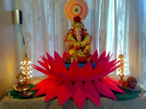 Ganesh Chaturthi Decoration Ideas At Home Images Galleries With A Bite