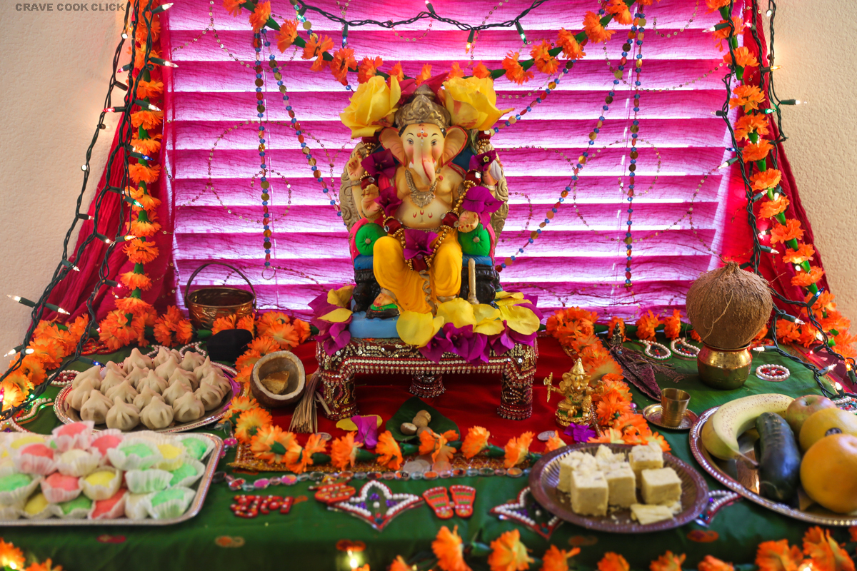 Img 0153 lovely telugu for Decorations of ganpati for home