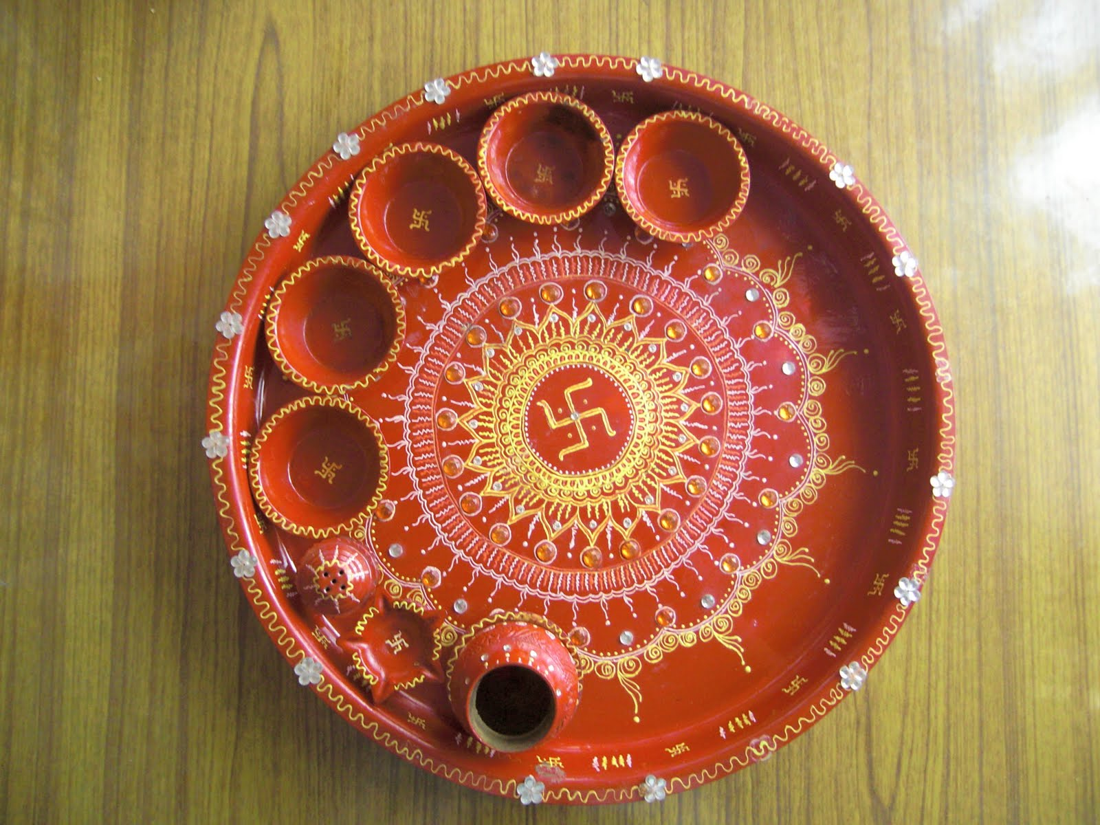 Picture 166 lovely telugu for Aarti thali decoration with pulses