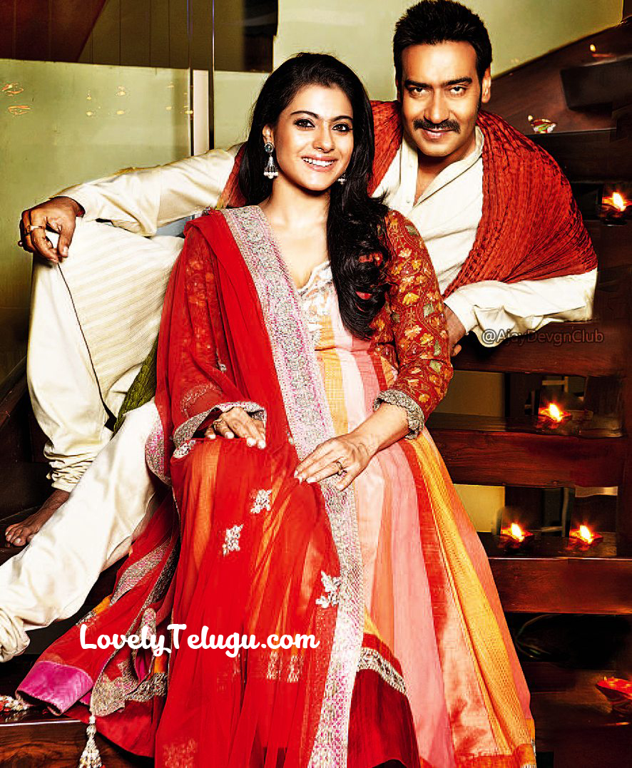 Ajay Devagan wife name is Kajol