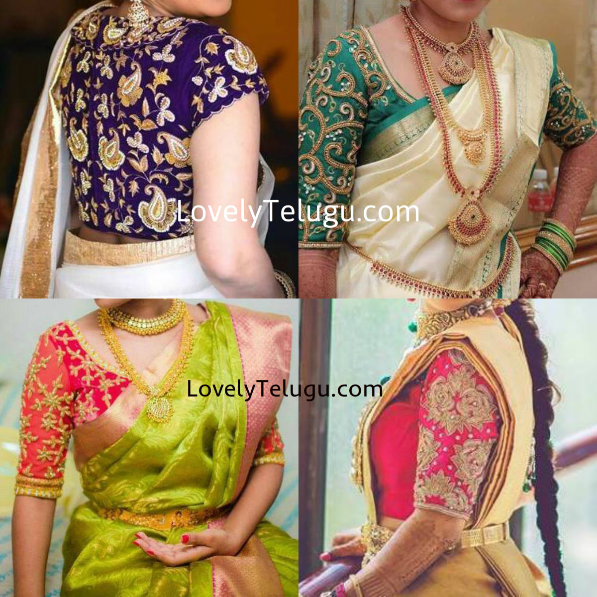 20 Gorgeous Maggam Work Designer Blouses For Silk Sarees