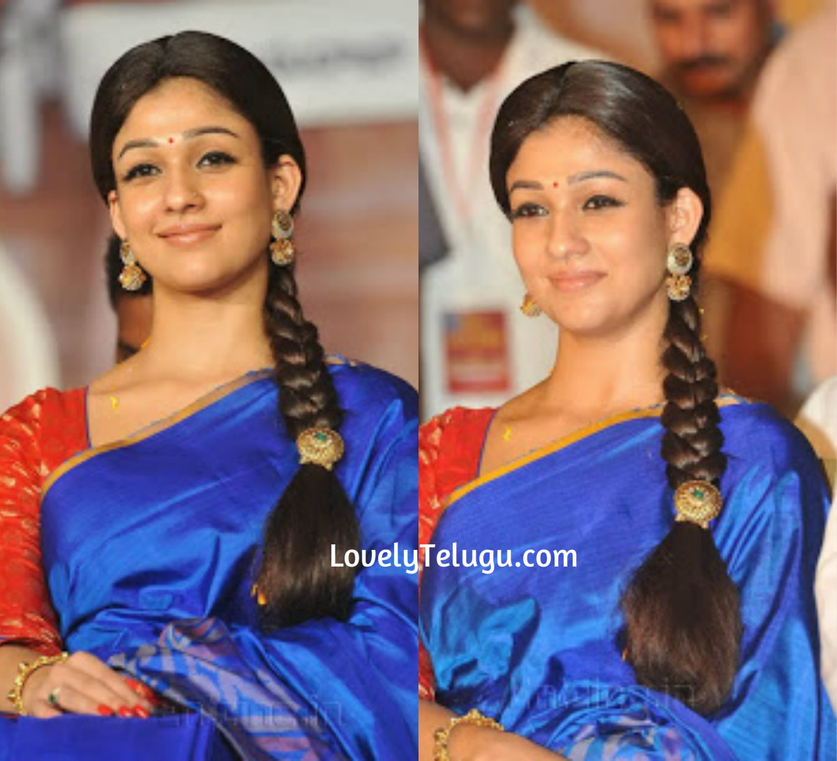 5 Simple Hair Styles Of Nayanatara In Traditional Saree