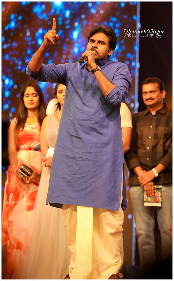 Pawan Kalyan at Katamarayudu Pre-release Event HD Photos