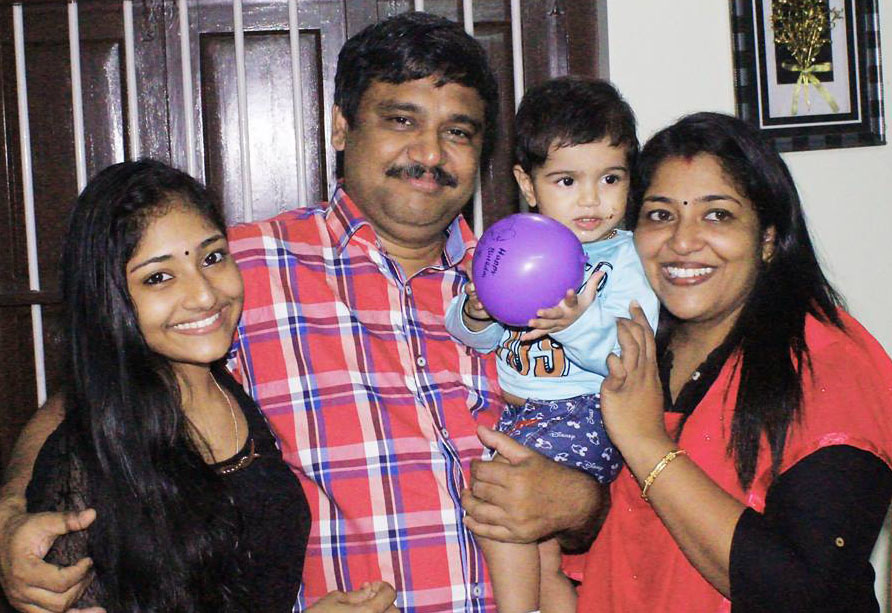 Sharanya Mohan Family photos