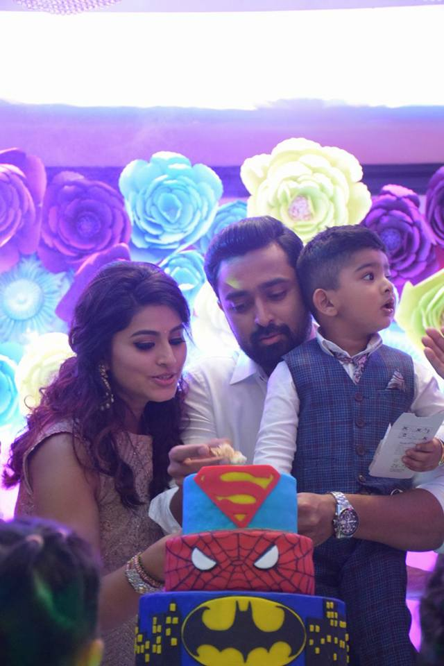 Actress Sneha Son Vihaan 2nd Birthday Celebration Photos