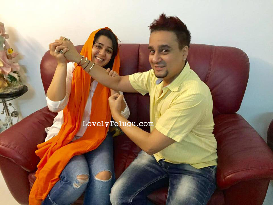 charmi with brother