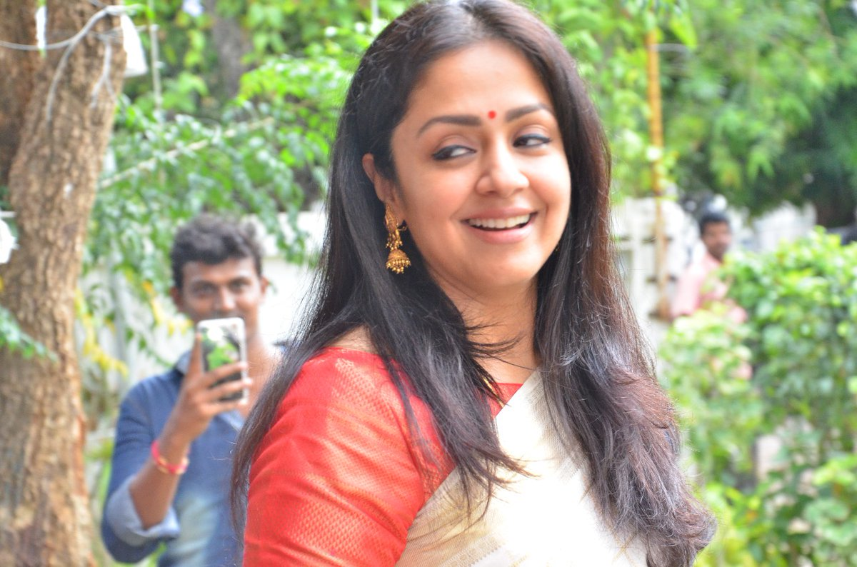 Actress Jyothika Latest Photos in White Saree