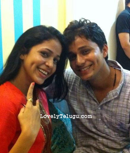 lavanya with brother