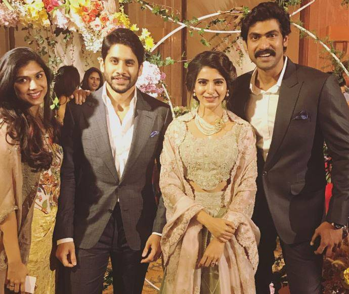 Samantha and Naga Chaitanya reception photos