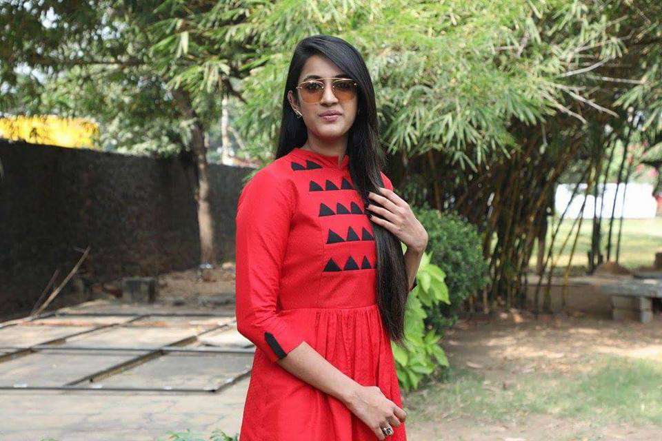 Niharika Konidela Beautiful Pics in Red