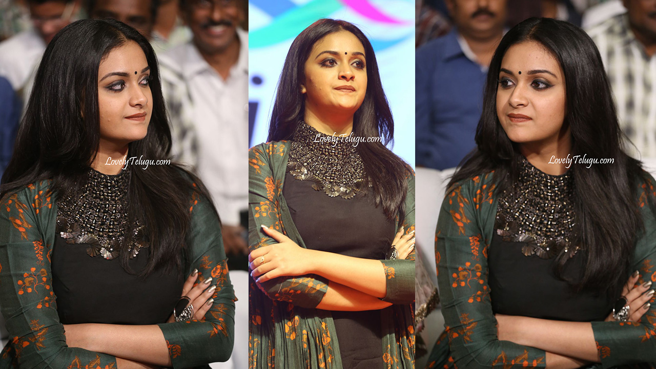 Keerthy Suresh Photos at Ganga Pre-release Event