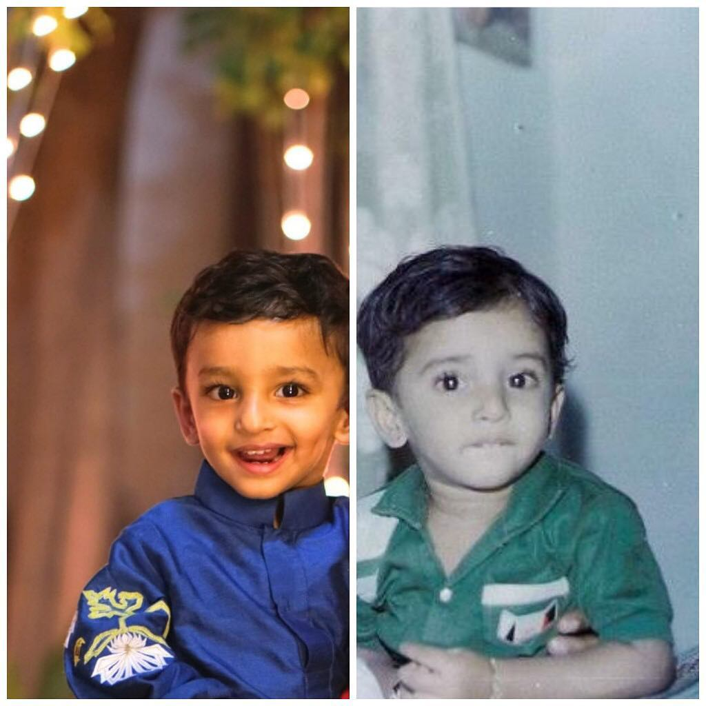 Nani and Arjun same childhood pic