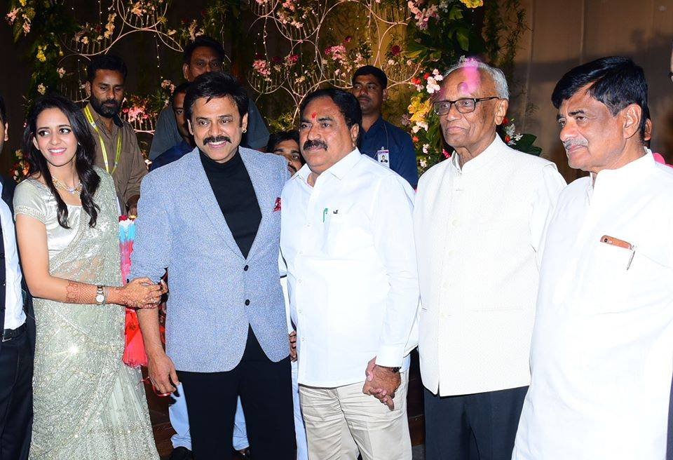 Daggubati Venkatesh's Daughter Aashritha Wedding Reception Photos