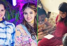 Sania Mirza sister Anam Mirza's Wedding Mehendi Photos